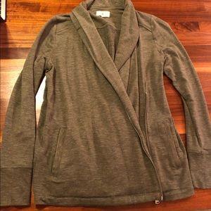 Lou & Grey Super Soft Zip Cardigan